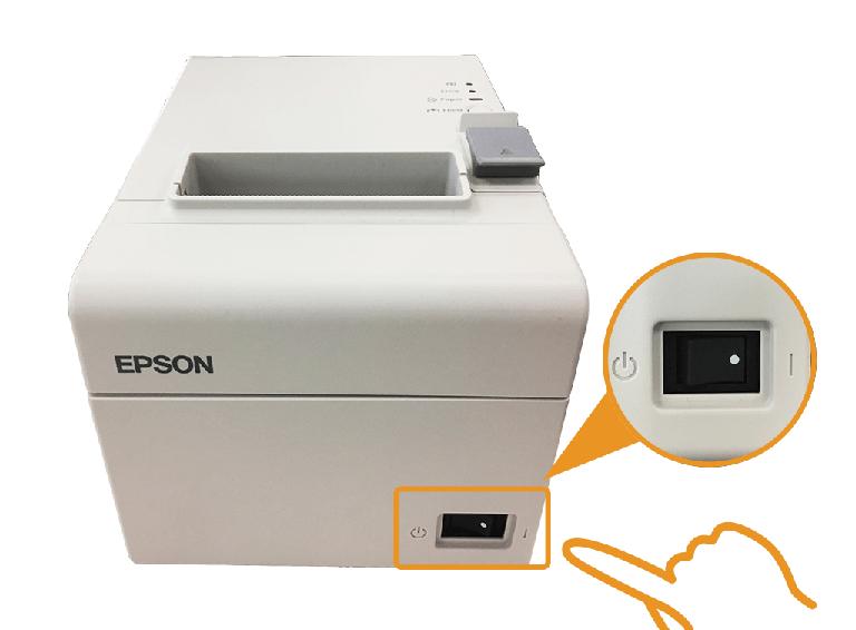 エプソン据え置きプリンター:電源スイッチON