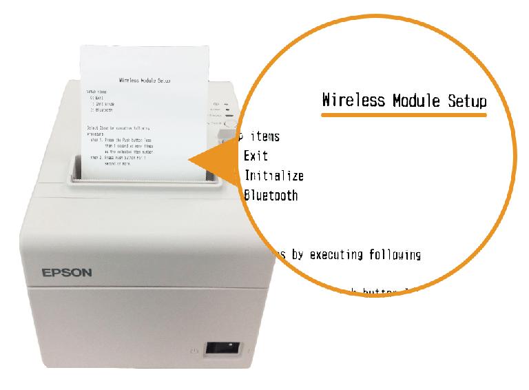 エプソン据え置きプリンター:Wireless Module Setup印字