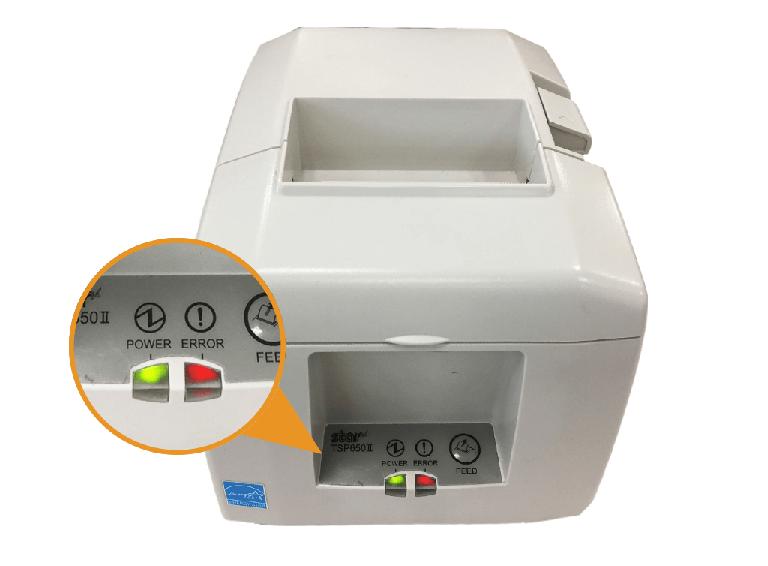スター精密プリンター:LEDランプ点滅・RSTボタン長押し