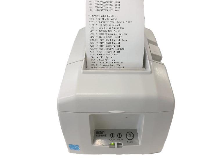 スター精密据え置きプリンター:レシート印刷